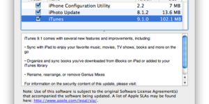 iTunes 9.1 now available, Include iPad Syncing