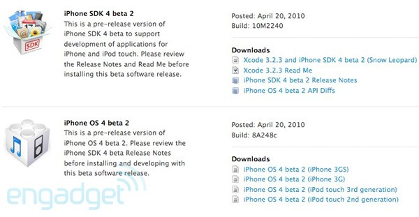 apple iphone os, apple iphone os 4.0, apple iphone os 4.0 beta 2, iphone os beta 2, jailbreak, dev team, beta, beta 1, beta 2, dev, sdk, sdk beta, sdk beta 1, sdk beta 2, iphone 4.0