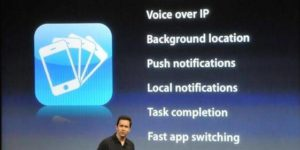 iPhone OS 4.0 with Multitasking feature