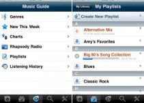 iPhone,     Apple iPod,     iPhone apps,     Rhapsody,     offline playback