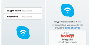 Skype WiFi Available for iPhone, iPad or iPod Touch