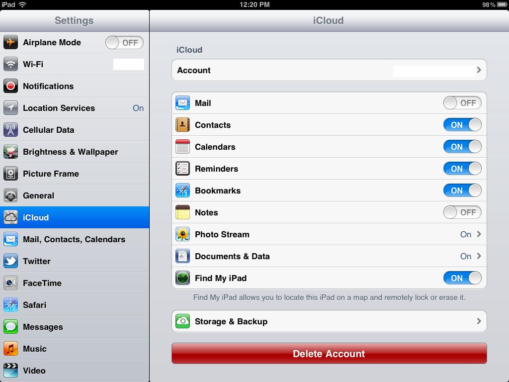 How To Use Icloud On Ipad Ios 5
