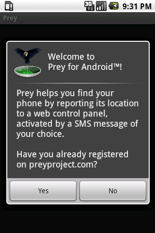 Prey Android App