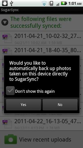 Sugarsync Android App