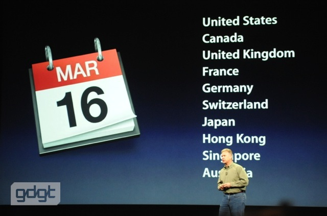 Availability of The New iPad