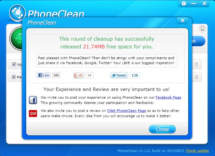PhoneClean Completed