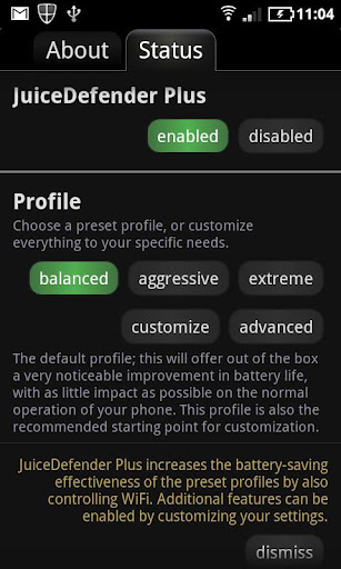 JuiceDefender - Battery saver Android App