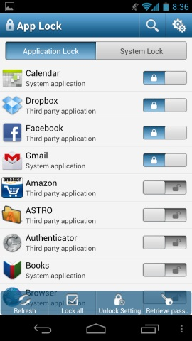 Lock Application in Android