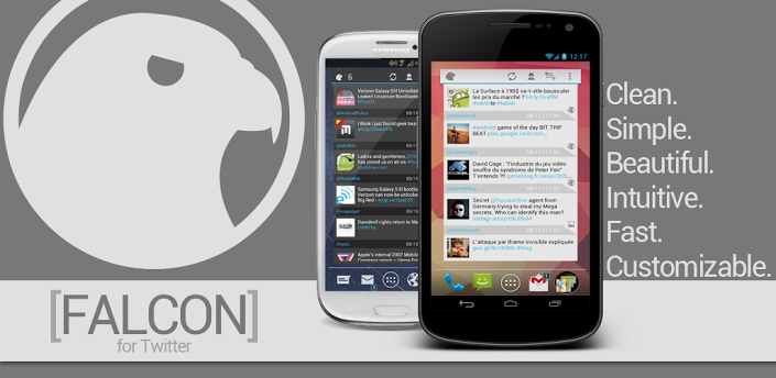 Falcon Widget (for Twitter)