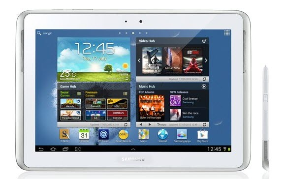 Galaxy Note 10.1 N8000 Android 4.1.2