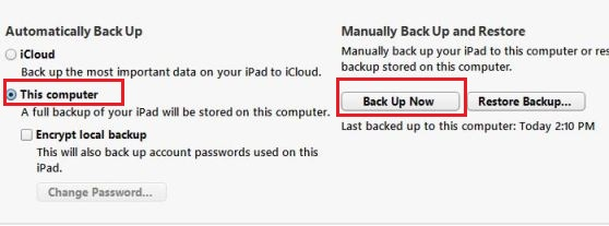 Backup iPhone iPad