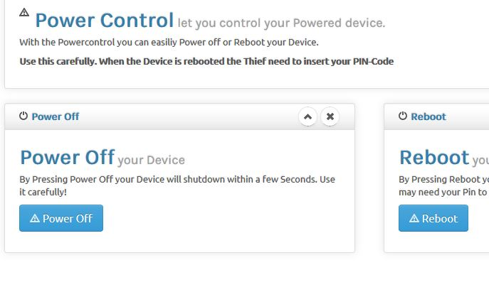 Power Control Theft Spy