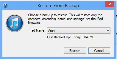 Select Iphone iPad Backup File