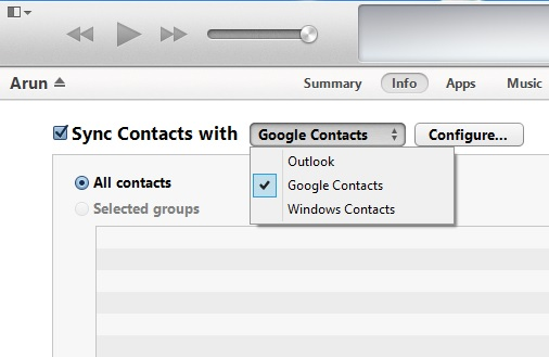 Sync Contacts With Google Contacts