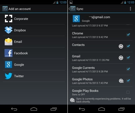 Sync Google Contacts Android