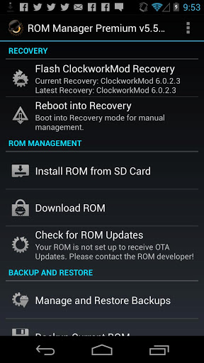 Install ClockworkMod recovery