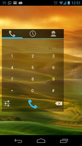 Simple Dialer Widget Screen
