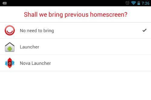 Buzz Launcher Home Screen Choice
