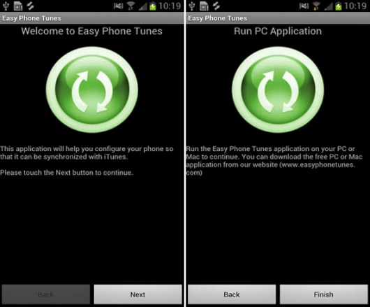 EasyTunes Sync iTunes with Android