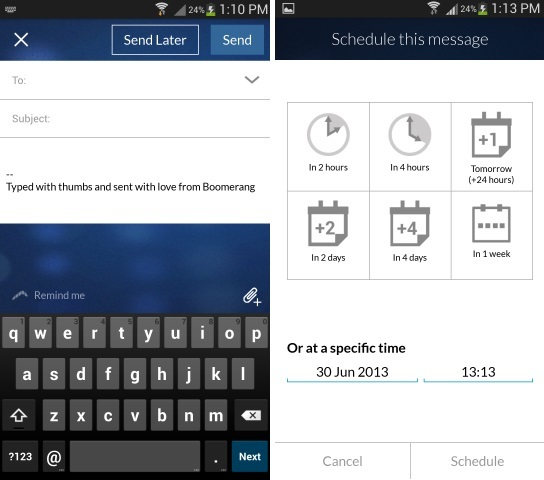 Schedule Gmail Emails on Android Mobile