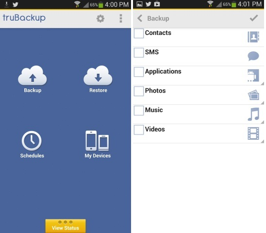 Trubackup Android Application