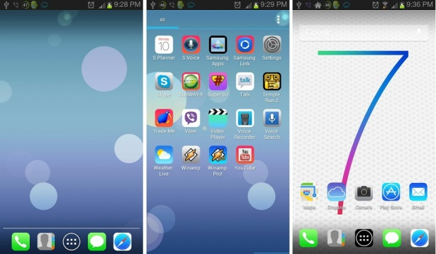 iOS 7 Theme for APEX-NOVA-ADW