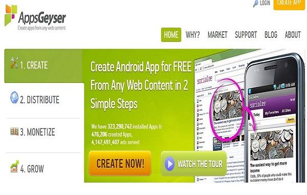 App Geyser Android App maker