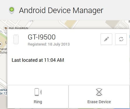 Android Device Details