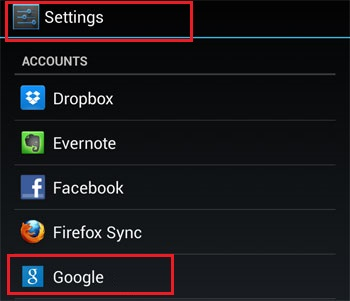 Android Google Settings