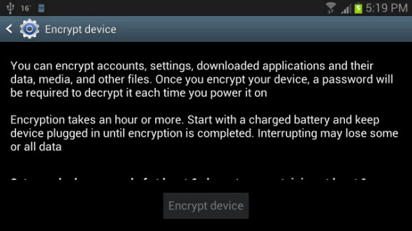 Encrypt Your Android Data
