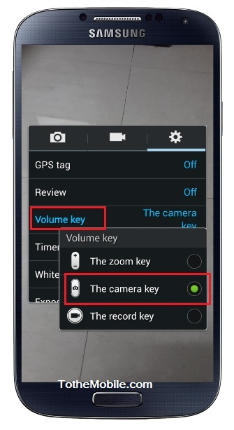Galaxy S 4 Camera Volume Keys