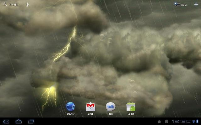 Thunderstorm Free Live Wallpaper