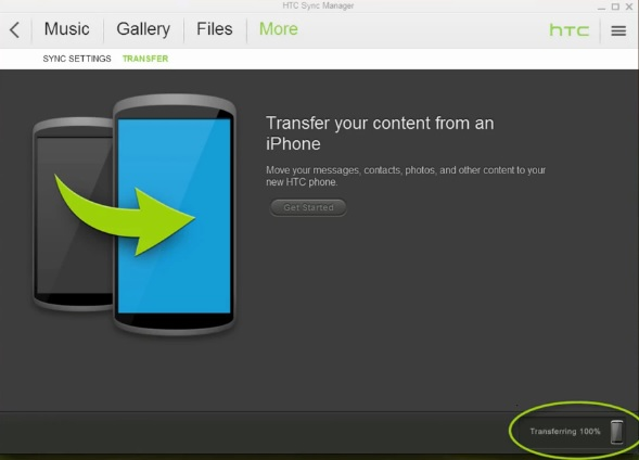 Transfer Contents From iPhone To HTC Android