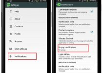 WhatsApp Popup Notification Settings