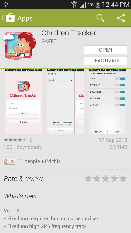 Children Tracker App