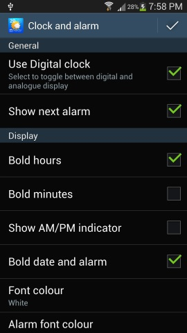 Clock and Alarm Settings