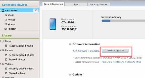 how to install samsung software in mobile