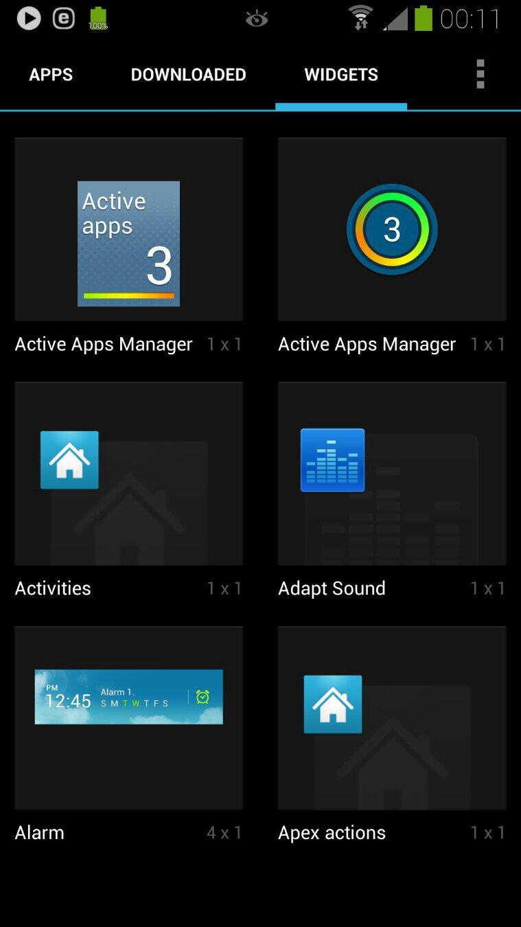 ActiveApplication Widget