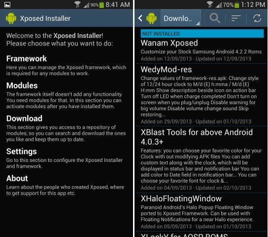 Install Xposed Framework Modules