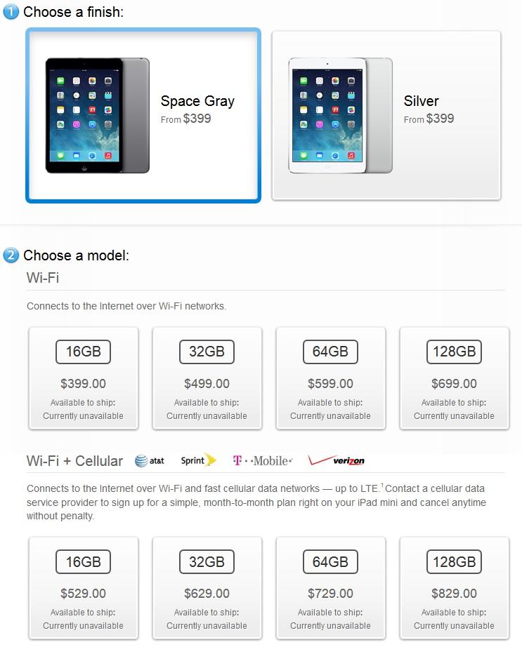 Ipad Mini Retina Display Price