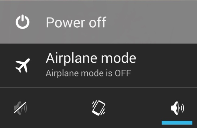 Android Power Off Option
