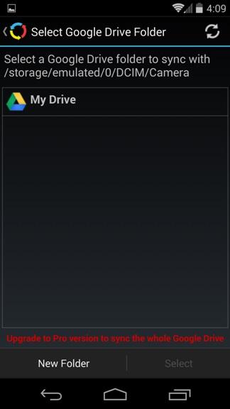 Select-Google-Drive-Folder