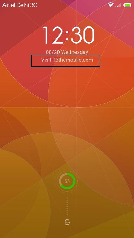 Add text on Lock screen Mi3