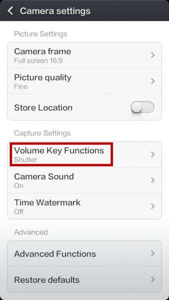 Volume-Buttons