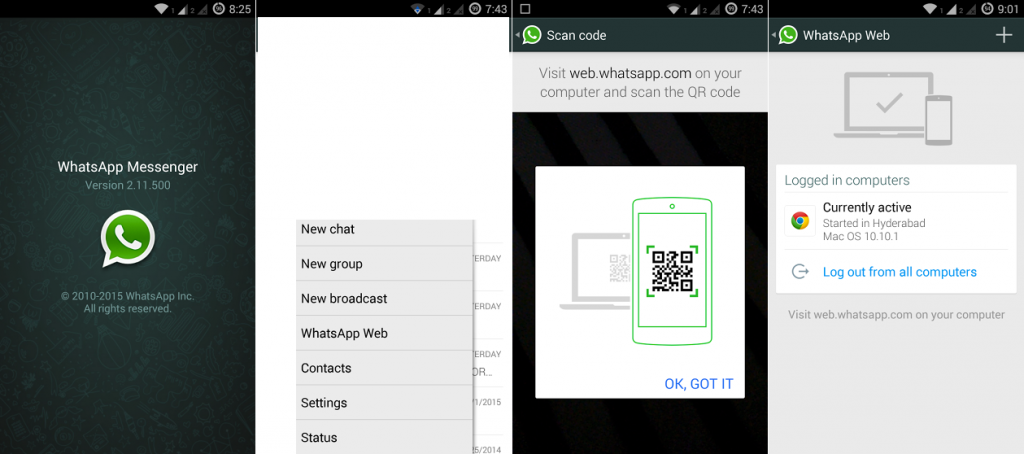 operate whatsapp from pc