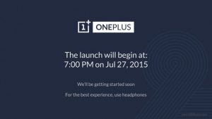 Install OnePlus 2 Launch App to Watch the Announcement
