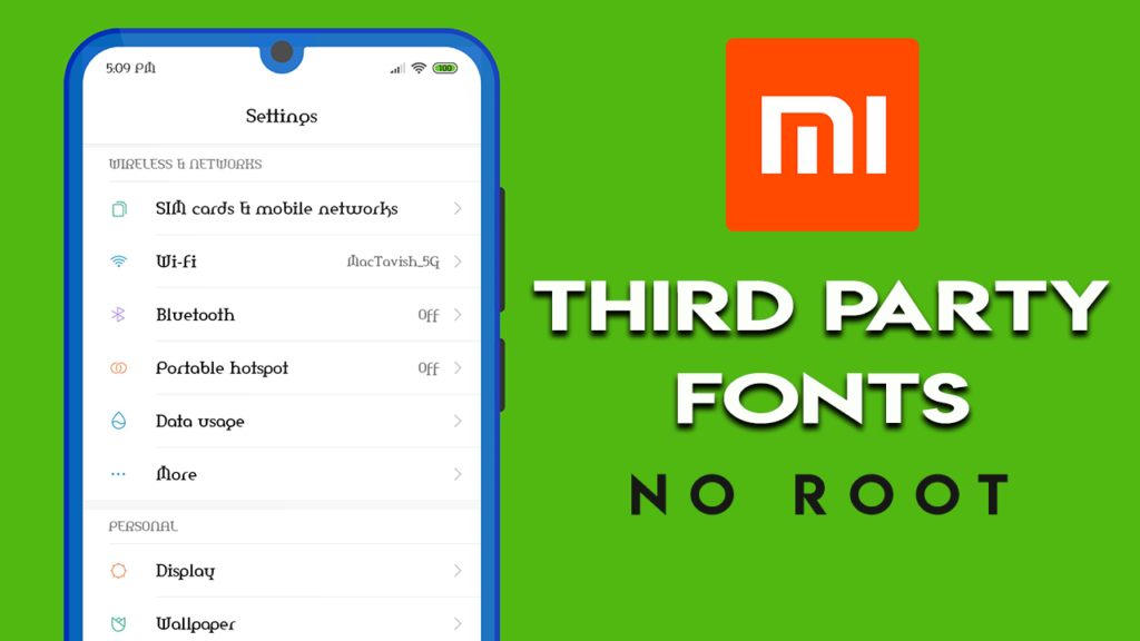 Apply Third Party Fonts on Xiaomi Phones - NO ROOT
