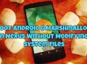 Root Android 6 Marshmallow on Nexus Without Modifying /system Files
